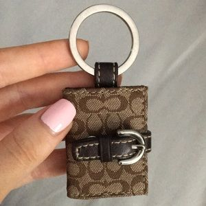 Authentic Coach Photo Holder Key Chain